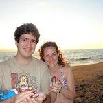 Liberando tortuguitas en Casamagna, lo máximo