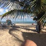 Vista do bar da praia