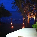 Photo of our view on the private dock during the romantic candle-lit dinner