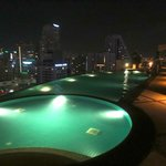 rooftop pool by nite