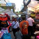 Night market along the street