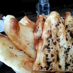 Butter Naan & Chili Olive Naan breads