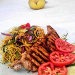 Grilled Fish with Veg-Chow Mein