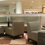 Bar area. Wipe-clean seats and colour not to my taste.