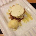 Lemon and lime ginger based cheesecake