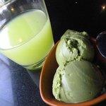 Guava juice and Green Tea ice cream