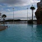 Villas pool, toward beach