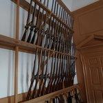Gun rack upstairs