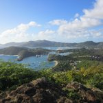 View from Shirley Heights Restaurant at English Harbour, Antigua