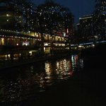 The River Walk Decorated for the Holidays