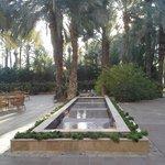 jardín árabe fuente