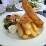 Posh fish fingers & chips