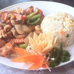 Chicken with Cashew Nuts and Egg Fried Rice