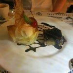 Schokomuffin mit Eis