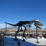 Dinosaur at the front entrance