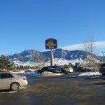 The Jim Bridger Range from the motel front