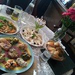 Mezze Plate, Turkist Omellete, Cheese Platter