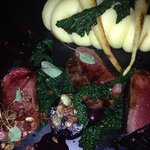 venison with beetroot puree