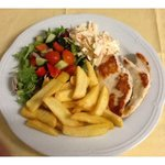 Plain Chicken Breast served with Chips & Side Salad