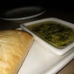 Fresh bread served with olive oil