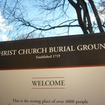 Christ Church Burial Grounds Sign