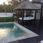 Our private pool and cabana