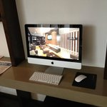 iMac in the public area of the hotel