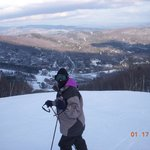 Jaclyn on Snowball at Sugarbush
