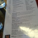 M Street Kitchen breakfast menu