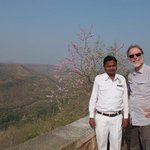 Our driver Sanjay, whom we booked through the hotel, at the Ajanta caves entrance, is excellent