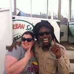 "Sharon & our ""One Love"" driver."