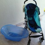 buggy & baby bath provided by hotel