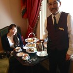 Our lovely waiter at the 'high tea'.