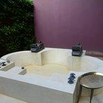 Gigantic outdoor bathtub