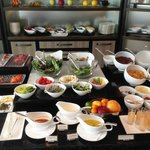 ホライゾン・クラブ・ラウンジのフードプレゼンテーション(朝食)