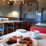 A great Full English breakfast in a stylish dining room!