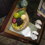Fruit bowl replenished each day