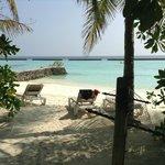 Aussicht auf Wellenbrecher, jacuzzi beach villa