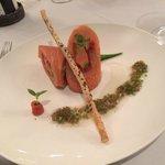 The salmon entree