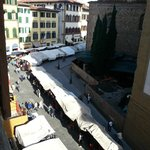 View from apartment of San Lorenzo markets