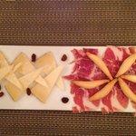 Vorspeise Käse Schinken