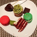 Dessert selection from Edge restaurant