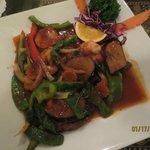 spicy eggplant with shrimp