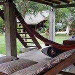 The chill out area under the cottage (the most comfortable accommodation at yudi's)