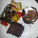 Steak night out -peppered