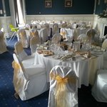 The decorated function room for lunch guests!