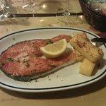 Salmone arrostito e polenta