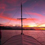 Sunset from liveaboard