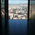 Great views in elevator lobby