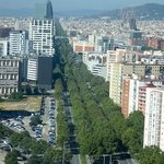 View to Avinguda Diagonal from elevator